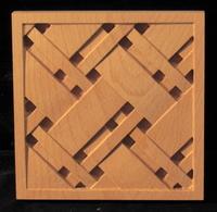 Image Corner Block - Tartan Weave