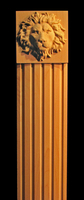 Image Column, Pilaster - Regal Lion Accents