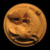 Image Rosette - Classic Dolphin