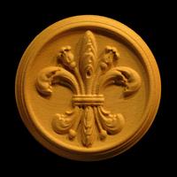 Image Medallion - Fleur de Lis #2