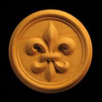 Image Medallion- Fleur de Lis #3