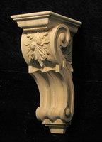 Image Corbel - Old World Oak Leaves -  5W x 12L x 6D