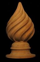 Finial - Carved Spiral Flutes